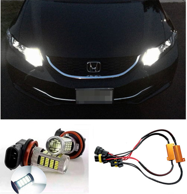 Free Shipping 6000K White 9005 LED Daytime Running Light