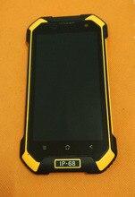 """Tela lcd original + digitalizador touch screen, moldura para blackview bv6000 mt6755 octa core 4.7 """"hd grátis envio do frete"""