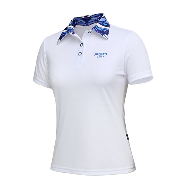 a614d4e1 PGM Golf Clothing Women's Golf T-Shirt Short Sleeve Top Summer Golf Tee  Breathable POLO Sport Shirts