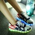 Женщины повседневная обувь светодиодные светящиеся обувь 2017