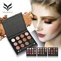 Huamianli marca 12 color matte shimmer brilhante maquiagem sombra em pó glitter smoky naked paleta da sombra de olho compo o jogo kit