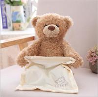 A Toy Christmas Peek A Boo Teddy Bear Play Hide And Seek Lovely Cartoon Stuffed Kids