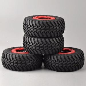 Image 3 - 4 개/대 RC 자동차 1:10 짧은 코스 트럭 타이어 TRAXXAS 슬래시 HPI 원격 제어 자동차 모델 장난감 부품에 대 한 타이어 바퀴 림 맞는 설정