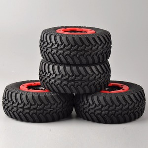 Image 3 - 4 pcs/set RC car 1:10 short course truck tires set tyre wheel rim fit for TRAXXAS SlASH HPI remote control car model toy parts