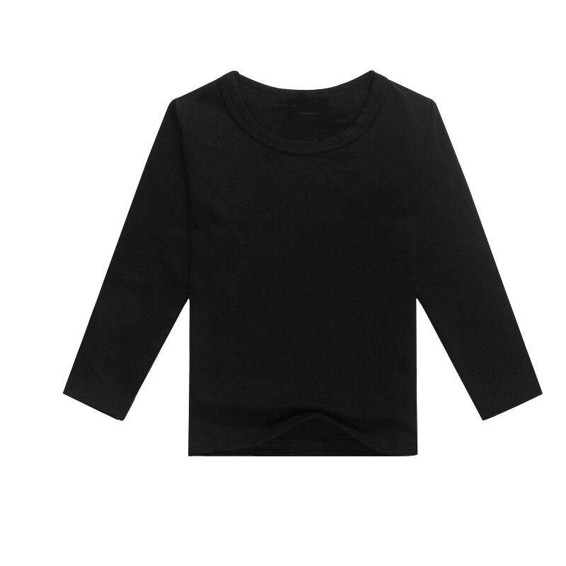 d9404ba5e Nero abito camicia bambino kid tee shirt bambini manica lunga vestito nuovo  arrivo semplici t shirt in bianco t shirt del ragazzo in Nero abito camicia  ...