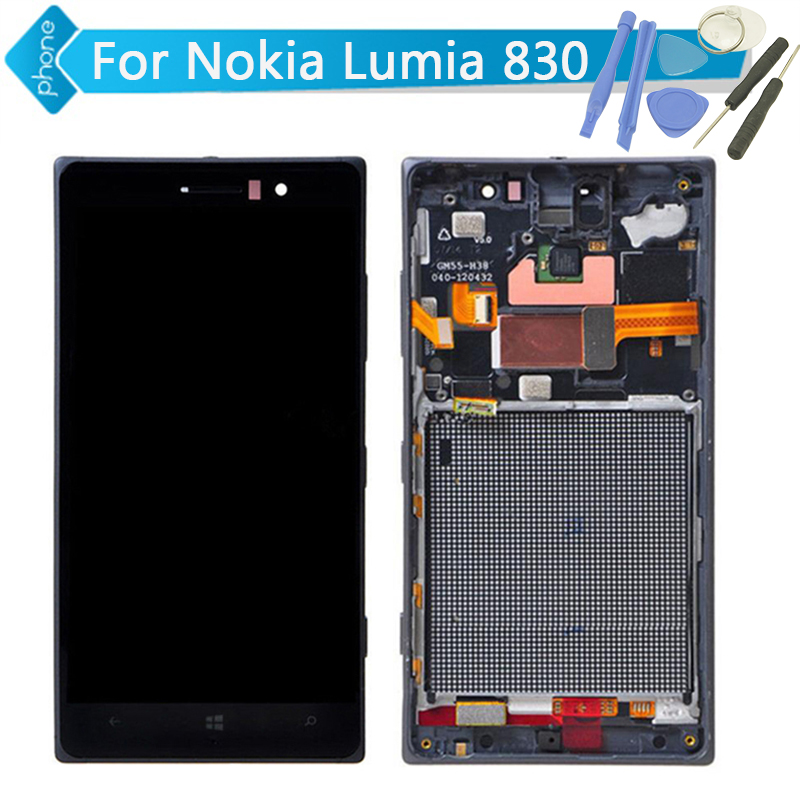 5 inch For Nokia Lumia 830 LCD Display Touch Screen Digitizer Assembly with Frame +Tools