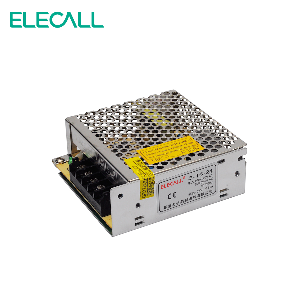 24V 0.625A 15W Switching Power Supply Transformer 220V To 24V DC Monitoring LED Security S-15-24 24v 6 25a 150w switching power supply transformer voltage monitoring led display