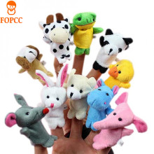 hot deal buy new 10 pcs/lot baby toy finger puppets tell story props animal doll hand puppet kids toys children gift with 10 animal group