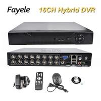 Güvenlik 16CH Hibrid DVR HVR NVR AHD CVI TVI Analog IP 5-in-1 Video Kaydedici 1080 P 1080N P2P Hareket Algılama RS485 Koaksiyel PTZ