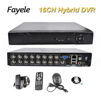 Security 16CH Hybrid DVR HVR NVR AHD CVI TVI Analog IP 5 in 1 Video Recorder 1080P 1080N P2P Motion Detect RS485 Coaxial PTZ