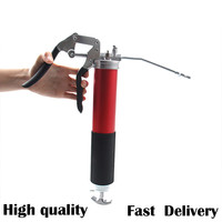 4,500 PSI Anodized Pistol Grip Heavy Duty Grease Gun Lever type heavy manual Hand Auto Repair Tool Vehicles Lubrication Tools
