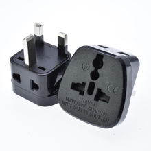 UK plug adapter Universal US EU AU Converter to UK HK AC Travel Power Plug Charger Adapter Connector UK plug 2 turns 1
