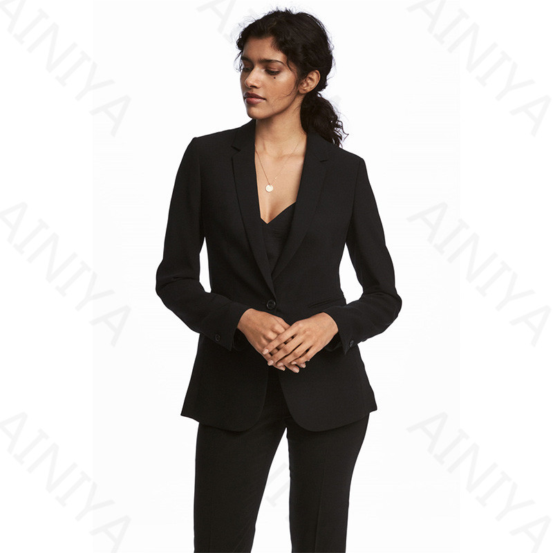 New 2017 Spring And Autumn Ladies Casual Ol Office Business Formal Uniforms Uniform Style Elegant Fashion Lady Suit B102 Blazers