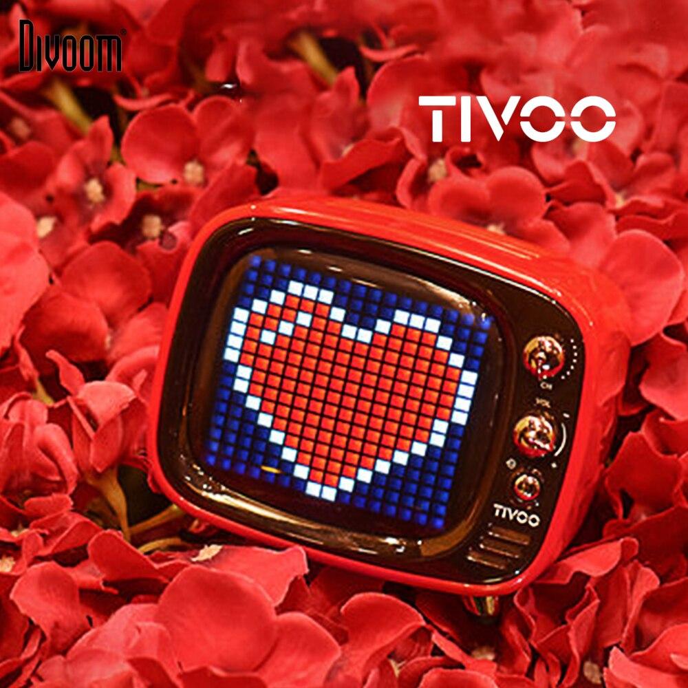 Divoom Tivoo Portable sans fil Bluetooth 5.0 haut-parleur Pixel Art horloge LED réveil intelligent avec App disponible pour IOS Android