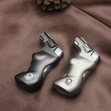 Butane Jet Grip Lighter Cigar Torch Turbine Fireproof Windproof Spray Gun 1300 C No Gas Cigarette Accessories