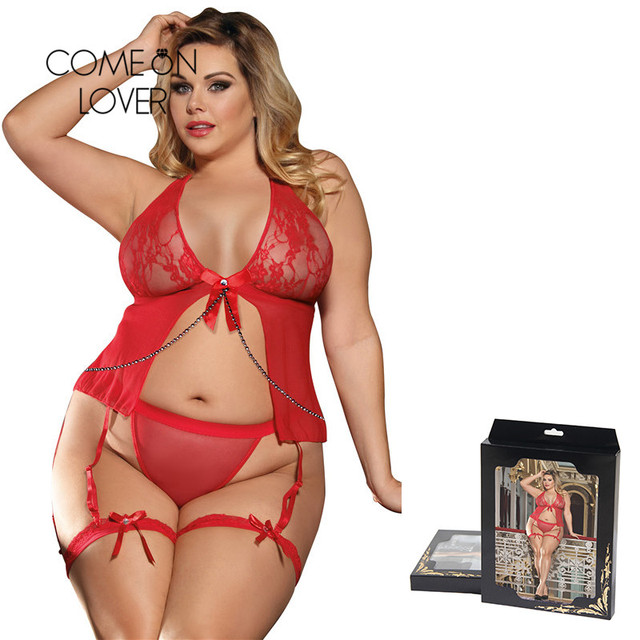 Comeonlover Sheer Mesh Halter Babydoll Lingerie With Leg Ring Ropa Sexy Mujer Intima Picardias Erotic Underwear Babydoll RI7356