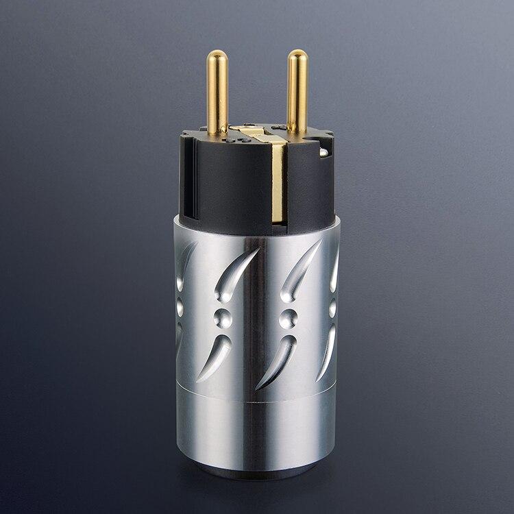 Paire Viborg VE502G + VF502G 100% pur cuivre EU Euro alimentation connecteur Schuko prise IEC femelle prise hifi - 3