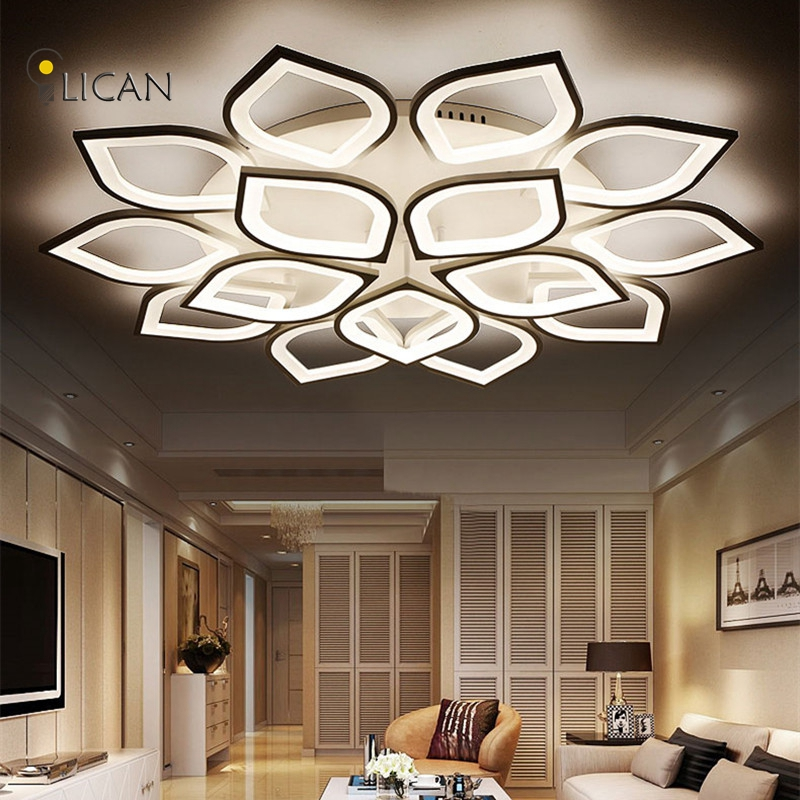 Lican Modern led ceiling Chandelier lights for living room bedroom Plafon home Dec AC85-265V White Led Chandelier Lamp Fixtures new modern led ceiling lights for living room bedroom plafon home lighting combination white and black home deco ceiling lamp