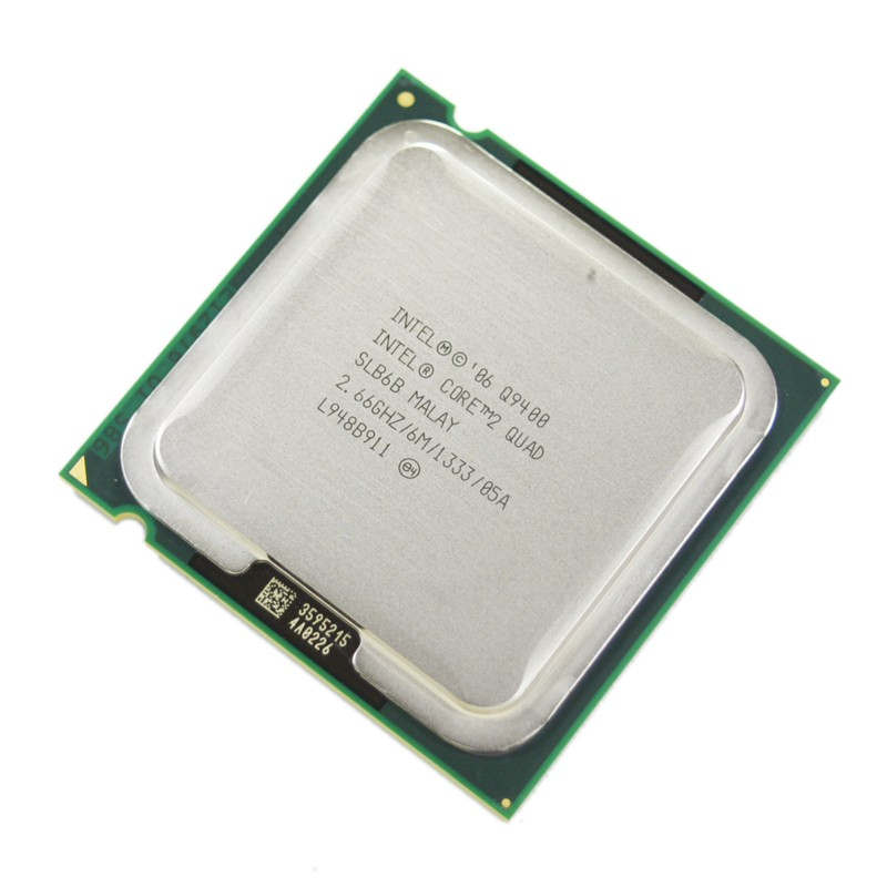 Core 2 quad Q9400 SLB6B 2.66 ГГц 6 МБ 1333 мГц Socket 775 процессор CPU 100% рабочих