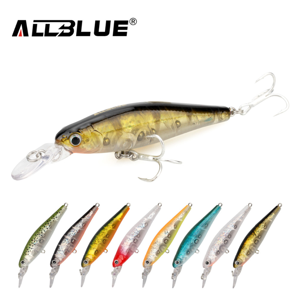 ALLBLUE Good Quality Fishing Lures Suspend Minnow 6.4g/65mm Shallow Diving Lifelike Wobblers With 8# Owner Hooks isca artificial mikado shallow minnow 12cm 22 плавающий