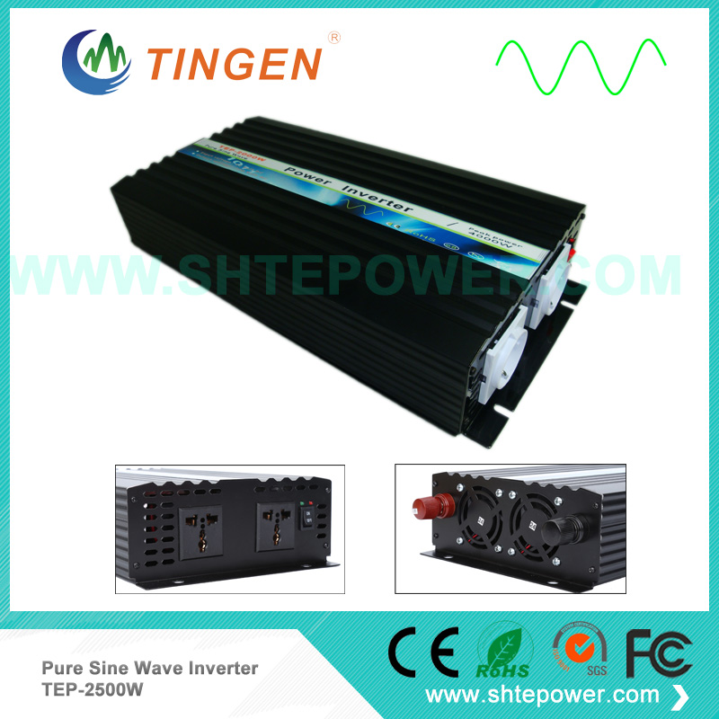 2.5KW 12V 24V 48V DC input pure sine wave output AC 110V 120V 230V options TEP 2500W Free Shipping power inverter