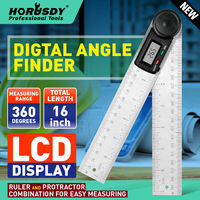 HORUSDY 8 Electronic Digital Protractor Goniometer Angle Finder Miter Gauge Precision Bevel Measuring Instrument Tools