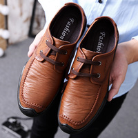 BACKCAMEL Luxury Men Genuine Leather Shoes Slip Lace Moccasins Loafers Men Leather Casual Shoes Fashion Soft Footweat Size 38 44
