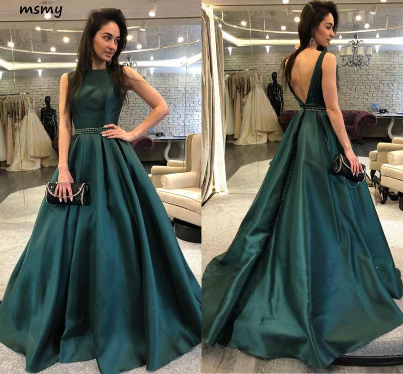 Simple Boat Neck   Evening     Dress   Long Formal   Evening   Gown Squined Sleeveless Floor Length New A-Line   Dress   Custom Made