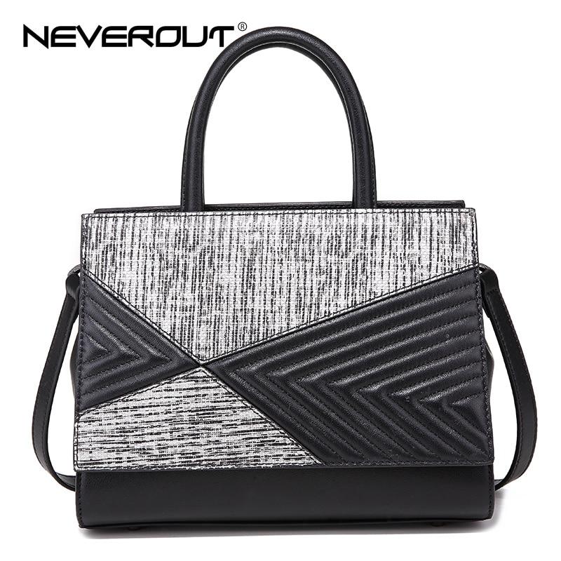 NEVEROUT High Quality Bags Brand Name Handbag Women Split Leather Casual Tote Lady Handbags Zipper Travel Shoulder Sac Designer
