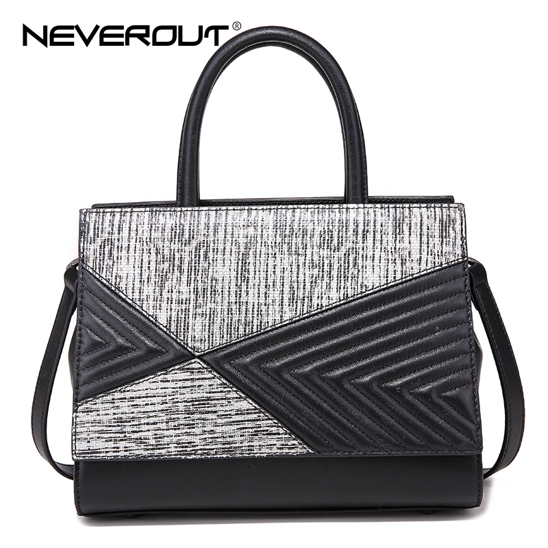 NeverOut High Quality Bags Brand Name Handbag Women Split Leather Casual Tote Lady Handbags Zipper Travel Shoulder Sac Designer кресло шезлонг афина мебель cho в