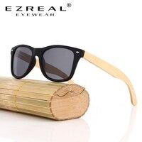 EZREAL 2016 Vintage Bamboo Sunglasses Women Men Polarized Wooden Sunglasses Mirror UV400 Wood Glasses Oculos De