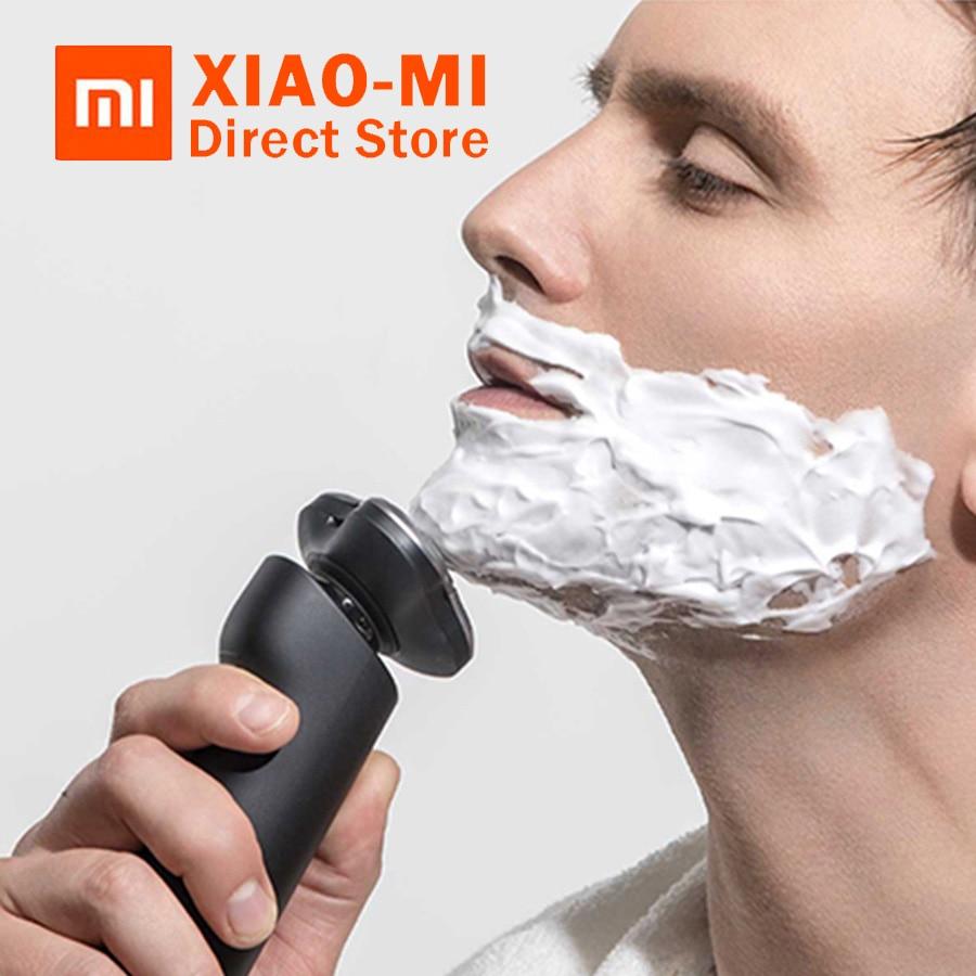 2018 Original Xiaomi Mijia Electric Shaver 3 Head Flex Dry Wet Shaving Washable Main Sub Dual Blade Turbo+Mode Comfy Clean Razor