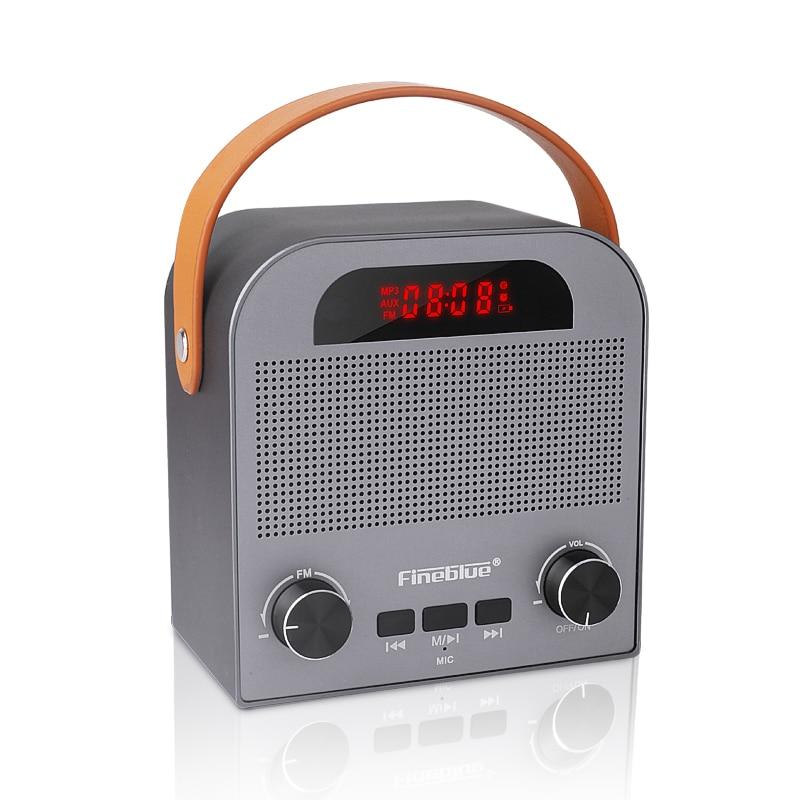 FM888 sans fil Bluetooth 4.2 haut-parleur avec FM TF carte jouer Aux entrée 2000 mAh batterie pour téléphone