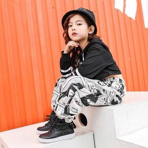 Image 3 - Disfraces de salón para niños, ropa de Hip Hop, baile, Jazz, traje de actuación en el escenario, sudadera holgada y pantalón, Ropa de baile