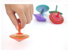 30 шт. дети ребенок разноцветные 5.5 см диаметром волчки игрушки / воспоминание детства дети дерево классический лучшие игрушки, Бесплатная доставка