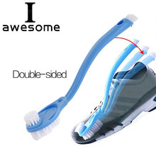 Double long handle shoe brush cleaner cleaning brushes Washing Practical Portable Shoes Brush tools Sneakers Shoe