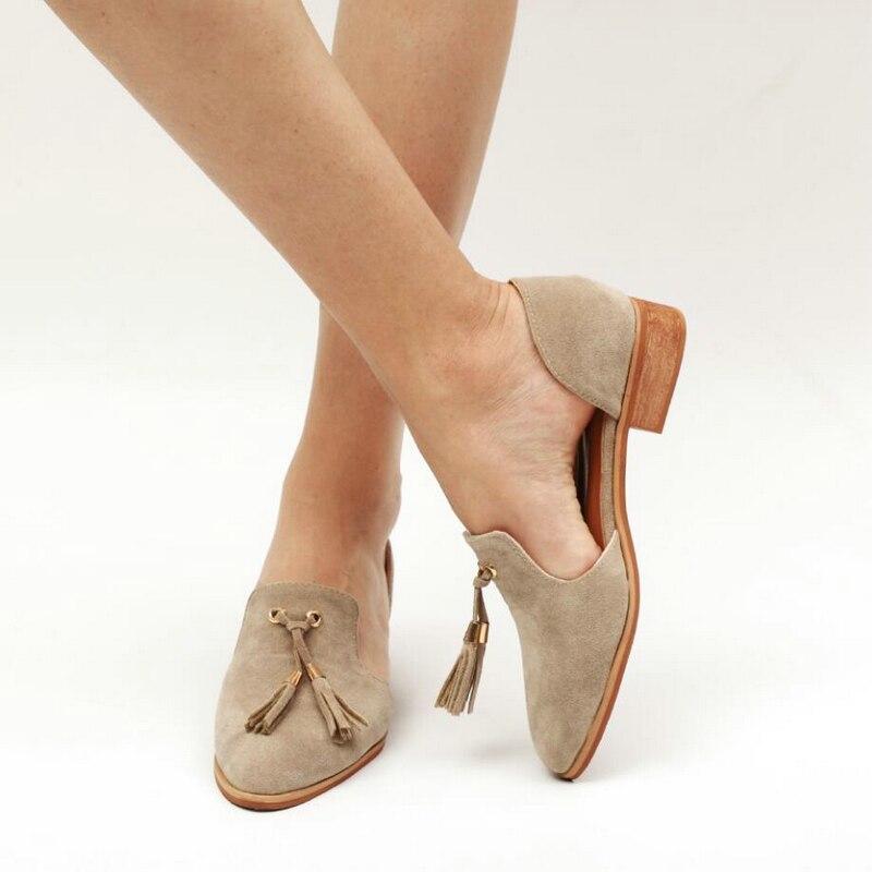 Women's Flats Shoe Slip On Shoe Casual Lady Loafers Slip On Shoes for Women Plus Size 43 Handmade Moccasins Women Leather Shoes' roxy women s lido iii b slip on shoe flat