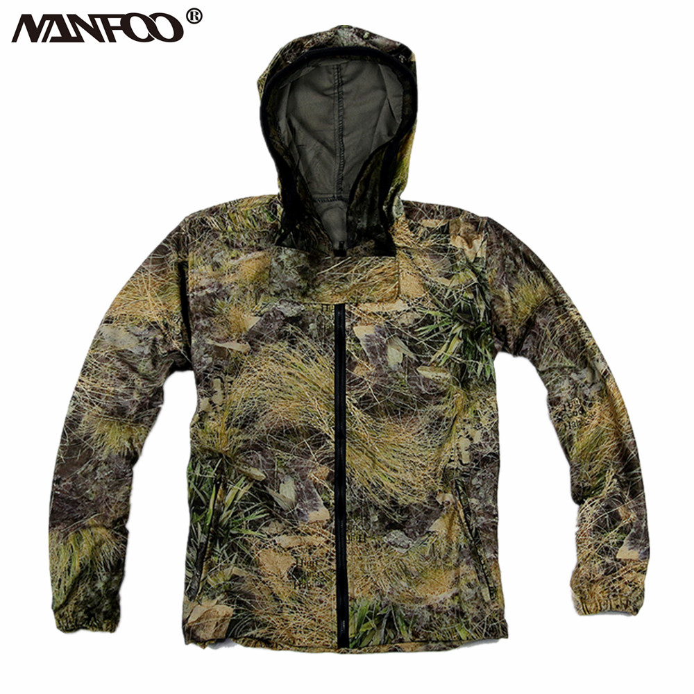 Industrious New Summer Cotton Hunting Camo Jacket Anti-mosquito Breathable Fishing Jacket 3d Bionic Grass Leaf Camo Hunting Ghillie Jacket Sports & Entertainment Sports Clothing