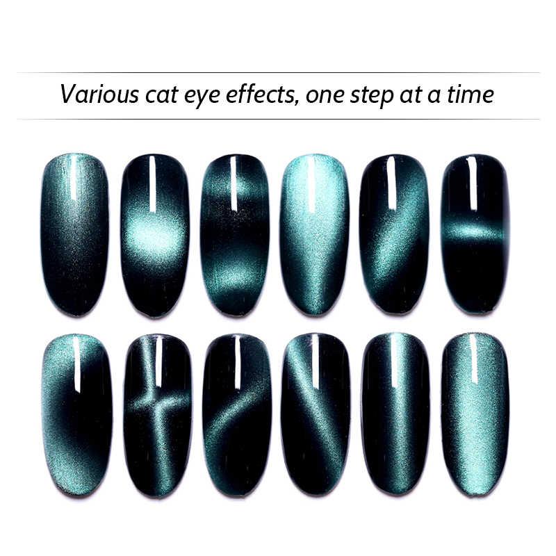 Multi-función 12 en 1 magnético uñas arte gato ojos efecto fuerte imán tablero palo grueso para gato 3D ojos UV Gel polaco