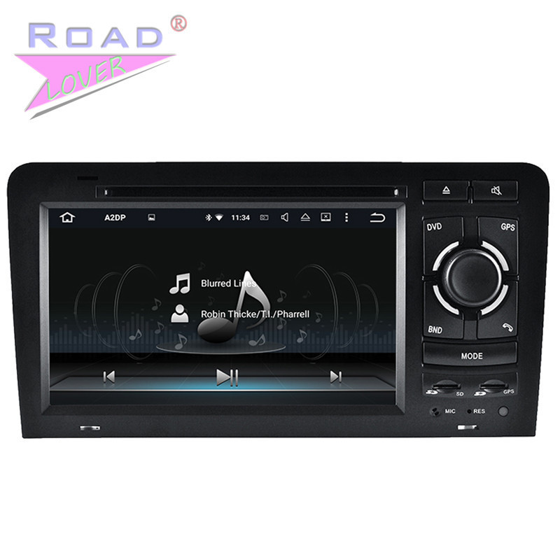 Roadlover 2G+16GB Android 7.1 Car DVD Player For Audi A3 (2003-2011) Stereo GPS Navigation Media Center Quad Core Auto Video MP3