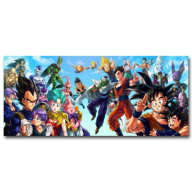 Аниме Плакат Гобелен Шелковый Драконий Жемчуг Dragon Ball вариант 3