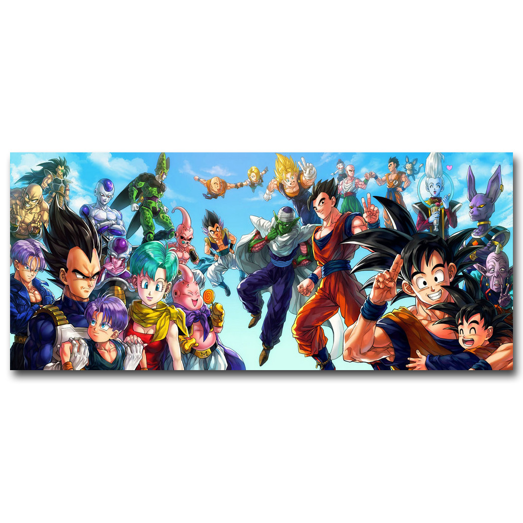Dragon Ball Z All Characters Art Silk Poster Huge Print 12x28 24x55inch New Japanese Anime Wall Pictures For Home Wall Decor 004
