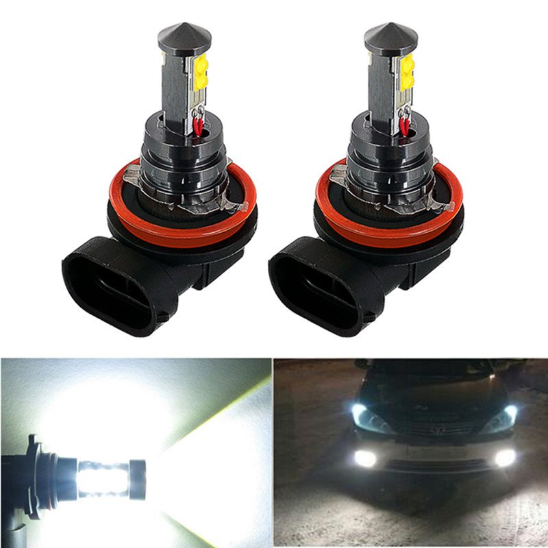 2PCS H8 H11 LED Bulbs Fog Lights Driving Tail Lamp Car Light parking For Toyota Prius <font><b>Camry</b></font> 2007-2014 Corolla 2011-2014 image