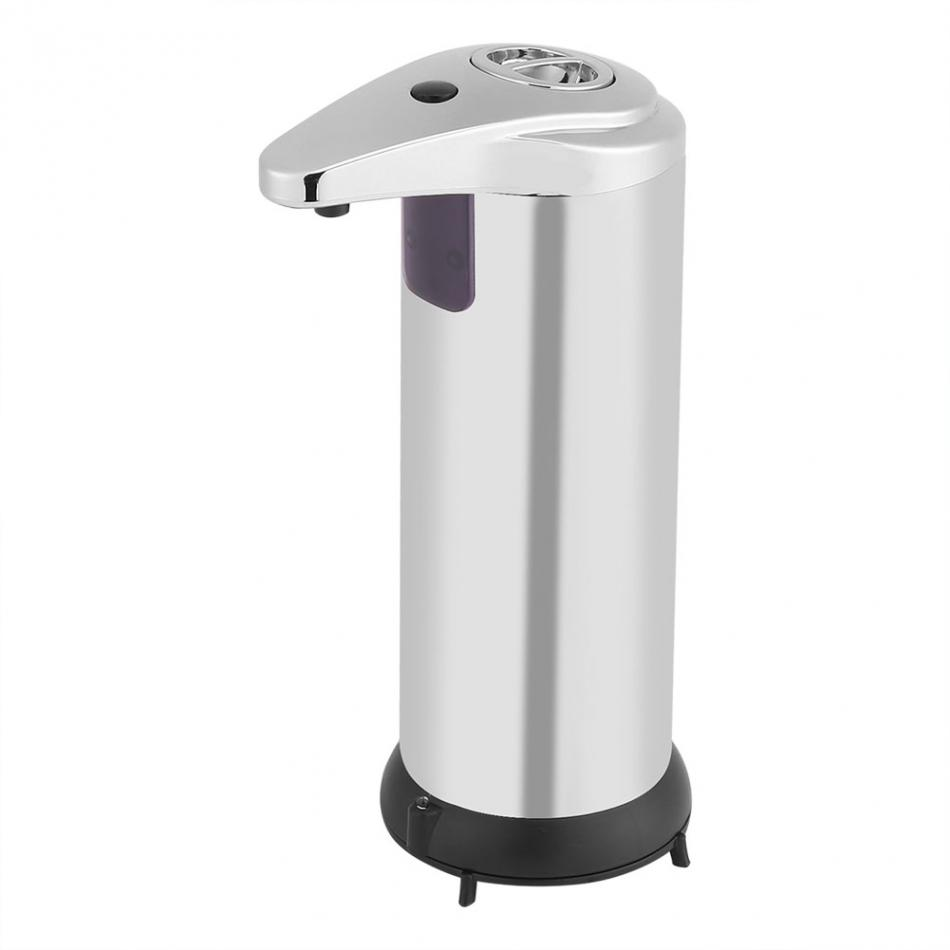 Non-contact Disinfectant Dispenser Bathroom Hardware 250 Ml Stainless Steel Automatic Liquid Soap Dispenser