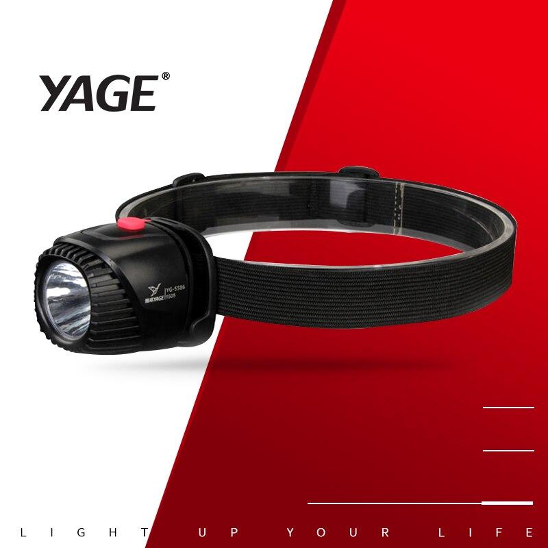 YAGE LED Faro de pesca linterna impermeable de la linterna Antorcha de la lámpara de la cabeza la Mini batería recargable LED Luz de cabeza de bicicleta