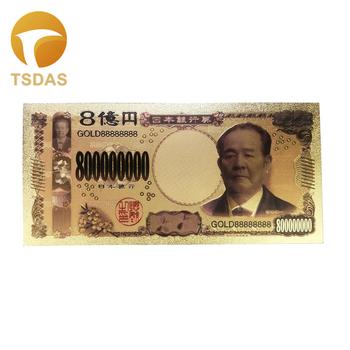 Nowy kolor japonia złoty banknot 800 milionów jenów banknotów w złocie do kolekcji tanie i dobre opinie TSDAS Ludzi Z tworzywa sztucznego Japan style