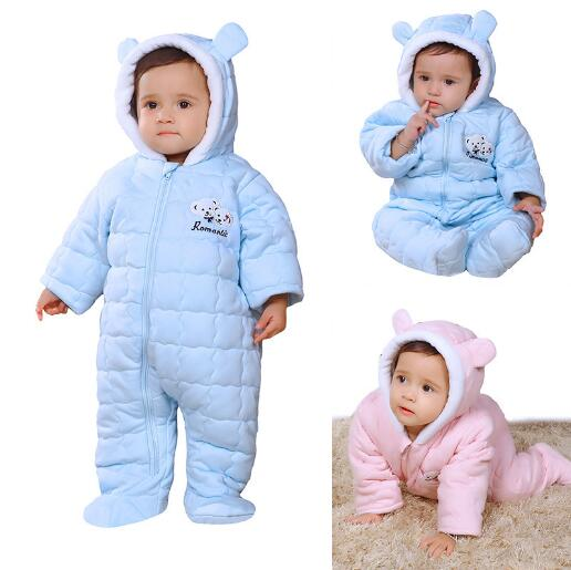 Newborn Baby Autumn Winter Cotton Coverall Hooded Infant warm Jumpsuit coat Baby Boy Girl Romper Outerwear kids clothes baby boy clothes kids bodysuit infant coverall newborn romper short sleeve polo shirt cotton children costume outfit suit