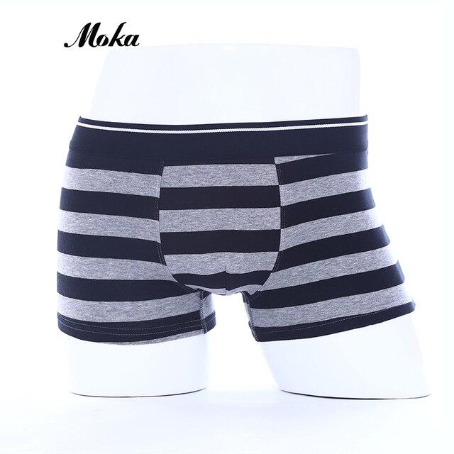Brand Underwear Men Cueca Boxer stripe body Suit Cotton Sheer Boxer Shorts  Klein Property Underpants Hombre Boxer Mens Trunks c6b7f4be2189