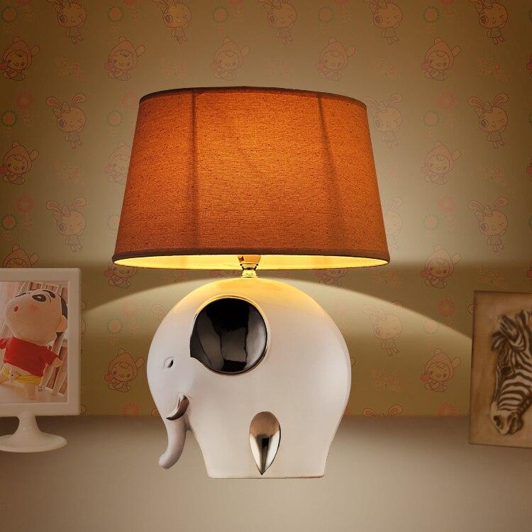 Kinder Tischlampen Elefanten Kaninchen Garten Wohnzimmer Schlafzimmer Warmen Pastoralen Moderne Einfache LED Tischleuchte ZA623