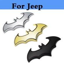 3D Metal Bat Batman Badge Emblem Tail Stickers Decal Car Styling for Jeep Liberty Renegade Wrangler Commander car styling